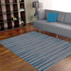 Dover Grey Black Blue Abstract Lines Modern Rug - 5