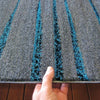 Dover Grey Black Blue Abstract Lines Modern Rug - 6