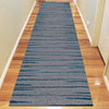 Dover Grey Black Blue Abstract Lines Modern Rug - Runner