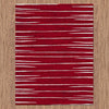 Dover Red White Grey Abstract Lines Modern Rug - 4