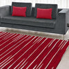 Dover Red White Grey Abstract Lines Modern Rug - 5