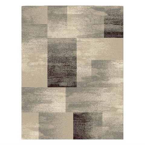 Dover Gold Grey Beige Abstract Patchwork Modern Rug - 1