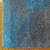 Dover Grey Blue Black Abstract Patchwork Modern Rug - 3