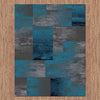 Dover Grey Blue Black Abstract Patchwork Modern Rug - 5