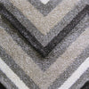 Dover Chevron Pattern Beige Black Grey White Modern Rug - 3