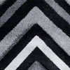 Dover Chevron Pattern Black Grey White Modern Rug - 3