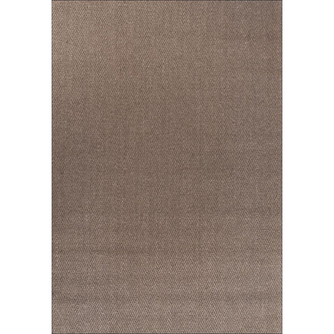 Columbo Eco Friendly Natural Sisal Herringbone Patterned Dark Brown Flatweave Rug - Rugs Of Beauty - 1