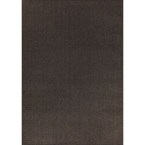 Columbo Eco Friendly Natural Sisal Herringbone Patterned Charcoal Grey Flatweave Rug - Rugs Of Beauty - 1
