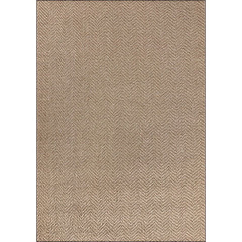 Columbo Eco Friendly Natural Sisal Herringbone Patterned Light Brown Flatweave Rug - Rugs Of Beauty - 1