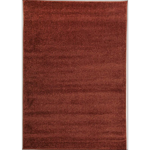 Dense Plain Rust Coloured Rug - Rugs Of Beauty - 1