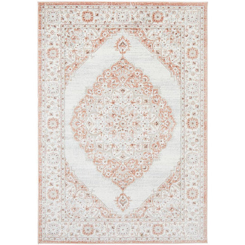 Tomsk 1202 Peach Ivory Transitional Patterned Rug - Rugs Of Beauty - 1