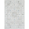 Tomsk 1202 Grey Blue Transitional Patterned Rug