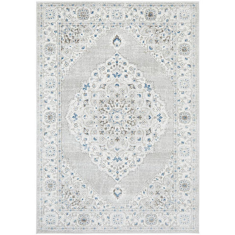 Tomsk 1202 Grey Blue Transitional Patterned Rug - Rugs Of Beauty - 1