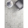 Tomsk 1202 Grey Blue Transitional Patterned Rug - Rugs Of Beauty - 2