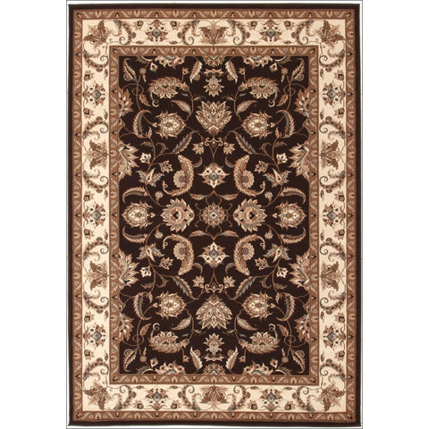 Stunning Formal Floral Design Rug Brown - Rugs Of Beauty