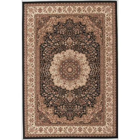 Stunning Formal Medallion Design Rug Black - Rugs Of Beauty