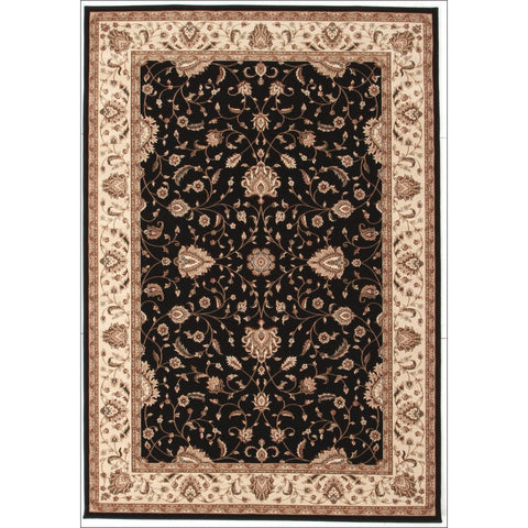 Stunning Formal Classic Design Rug Black - Rugs Of Beauty