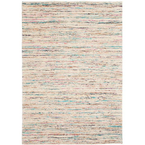 Bodo 158 Beige Multi Coloured Patterned Modern Rug - Rugs Of Beauty - 1