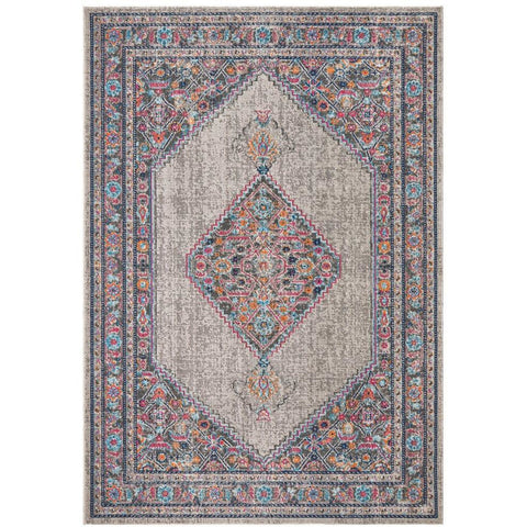 Menhit Grey Transitional Patterned Rug - Rugs Of Beauty - 1