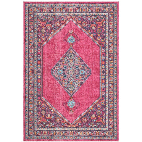 Menhit Pink Transitional Patterned Rug - Rugs Of Beauty - 1