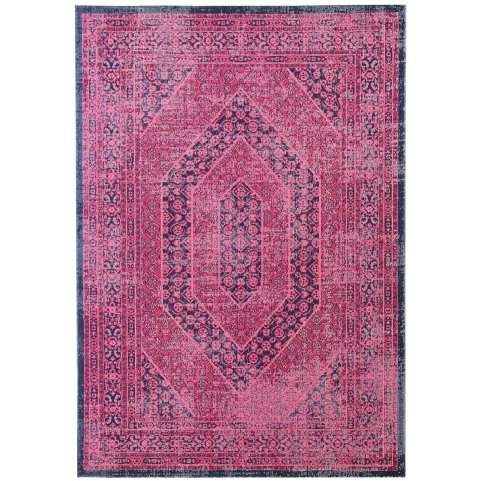 Menhit Magenta Navy Blue Transitional Patterned Rug   Rugs Of Beauty ...