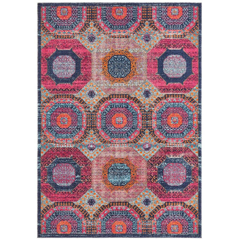 Menhit Multi Coloured Transitional Patterned Rug - Rugs Of Beauty - 1