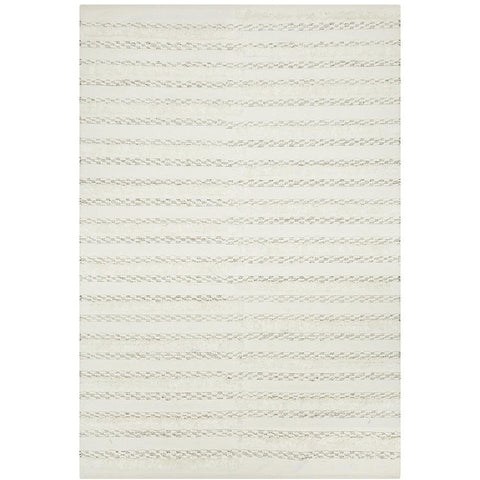 Zerzura 3751 Ivory Modern Wool and Cotton Flatweave Designer Rug - Rugs Of Beauty - 1