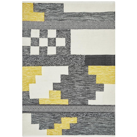 Zerzura 3762 Multi Coloured Modern Wool and Cotton Flatweave Designer Rug - Rugs Of Beauty - 1