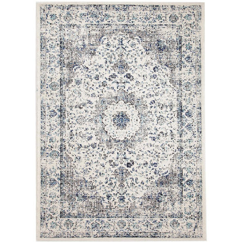 Lille Beige Blue Grey Transitional Designer Rug - Rugs Of Beauty - 1