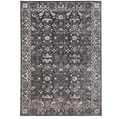 Lisbon Transitional Charcoal Designer Rug - Rugs Of Beauty - 1