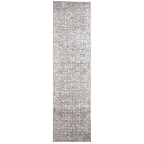 Lusaka Transitional Grey Designer Runner Rug - Rugs Of Beauty - 1