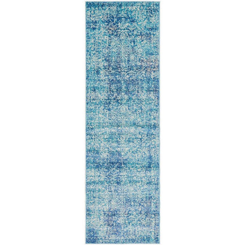 Madrid Transitional Blue Designer Runner Rug - Rugs Of Beauty - 1