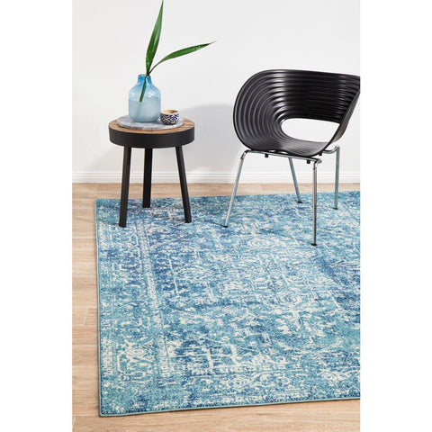 Madrid Transitional Blue Designer Rug - Rugs Of Beauty - 1