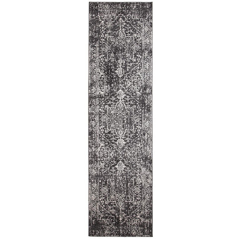 Provo Transitional Charcoal Runner Designer Rug - Rugs Of Beauty - 1