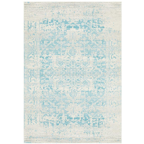 Kazan Transitional Beige Light Blue Designer Rug - Rugs Of Beauty - 1