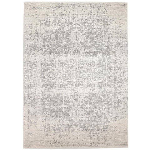 Cibola Transitional White Silver Designer Rug - Rugs Of Beauty - 1