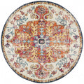 Murias Transitional Multi Coloured Round Designer Rug