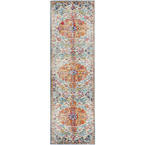 Murias Transitional Multi Coloured Designer Runner Rug - Rugs Of Beauty - 1