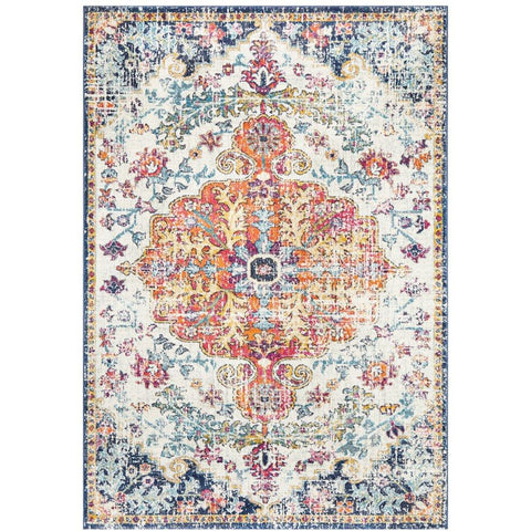 Murias Transitional Multi Coloured Designer Rug - Rugs Of Beauty - 1
