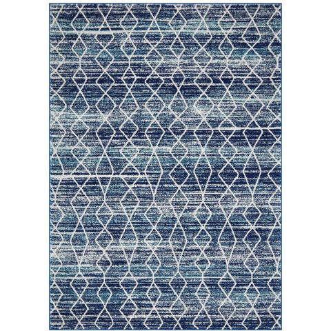 Camelot Transitional Blue Patterned Designer Rug - Rugs Of Beauty - 1