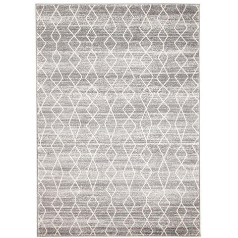 Amirtha Transitional Grey Patterned Designer Rug - Rugs Of Beauty - 1