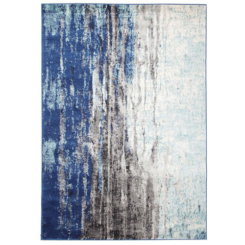 Mendril Transitional Blue Grey White Designer Rug - Rugs Of Beauty - 1
