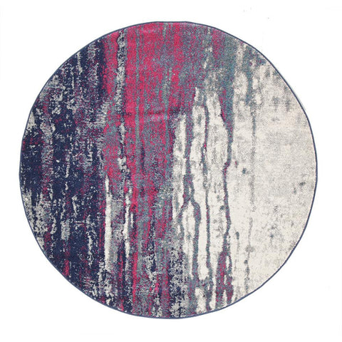 Bacau Multi Colour Transitional Designer Round Rug - Rugs Of Beauty - 1
