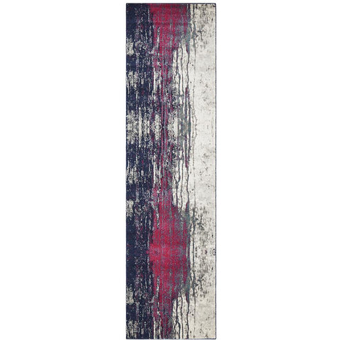 Bacau Multi Colour Transitional Designer Runner Rug - Rugs Of Beauty - 1