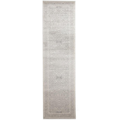 Lemuria Silver Grey Transitional Designer Runner Rug - Rugs Of Beauty - 1