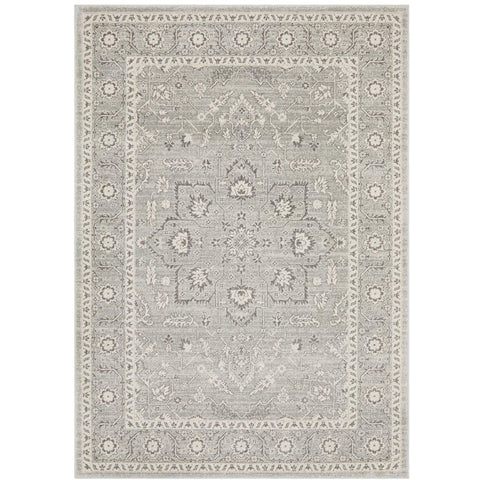 Lemuria Silver Grey Transitional Designer Rug - Rugs Of Beauty - 1