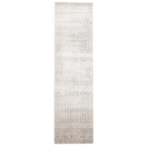 Dacca Transitional Grey Beige Designer Runner Rug - Rugs Of Beauty - 1
