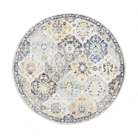Minsk Multi Colour Transitional Patterned Designer Round Rug - Rugs Of Beauty - 1