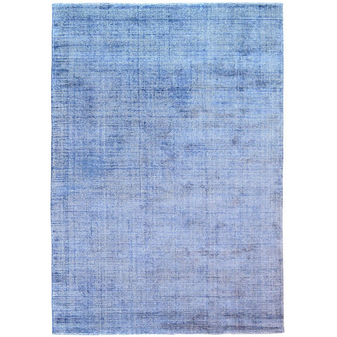 Baltia Blue Flatweave Hand Knotted Wool Rug - Rugs Of Beauty