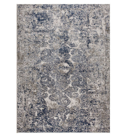 Taunton 2477 Navy Blue Transitional Textured Rug - Rugs Of Beauty - 1